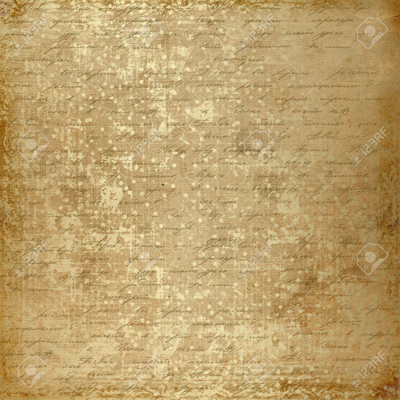 Scrapbook paper design - Grunge Old Paper Design In Scrapbooking Style With Handwriting Stock Photo 9027489