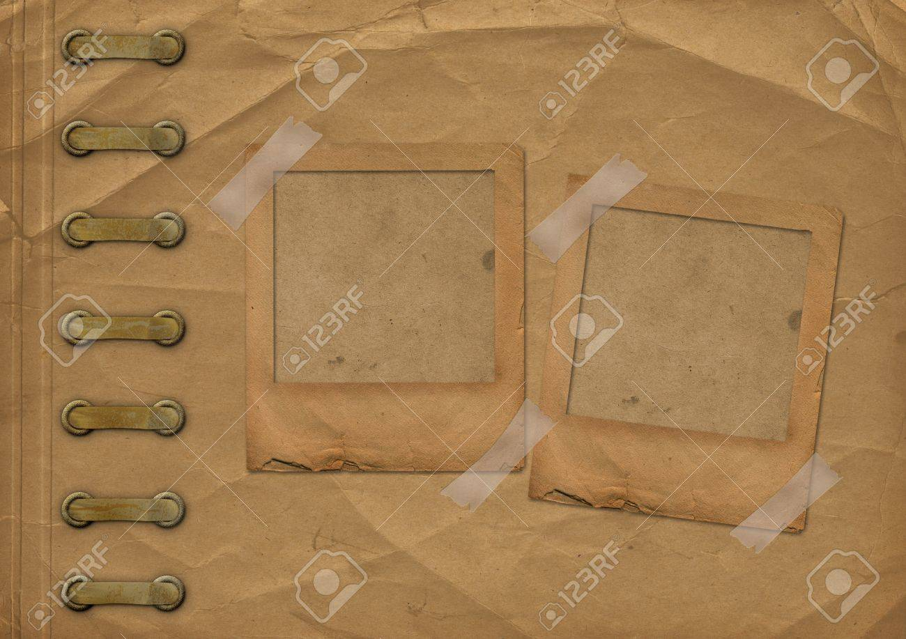 Old brown cover for album with slides Stock Photo - 12313598