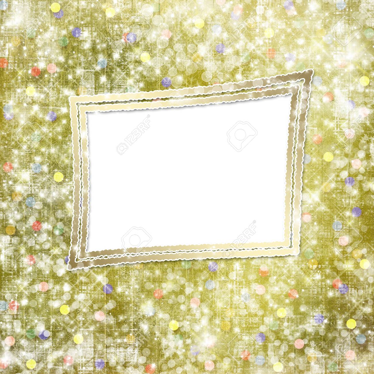 Abstract snowy background with snowflakes, stars and fun confetti Stock Photo - 16584077