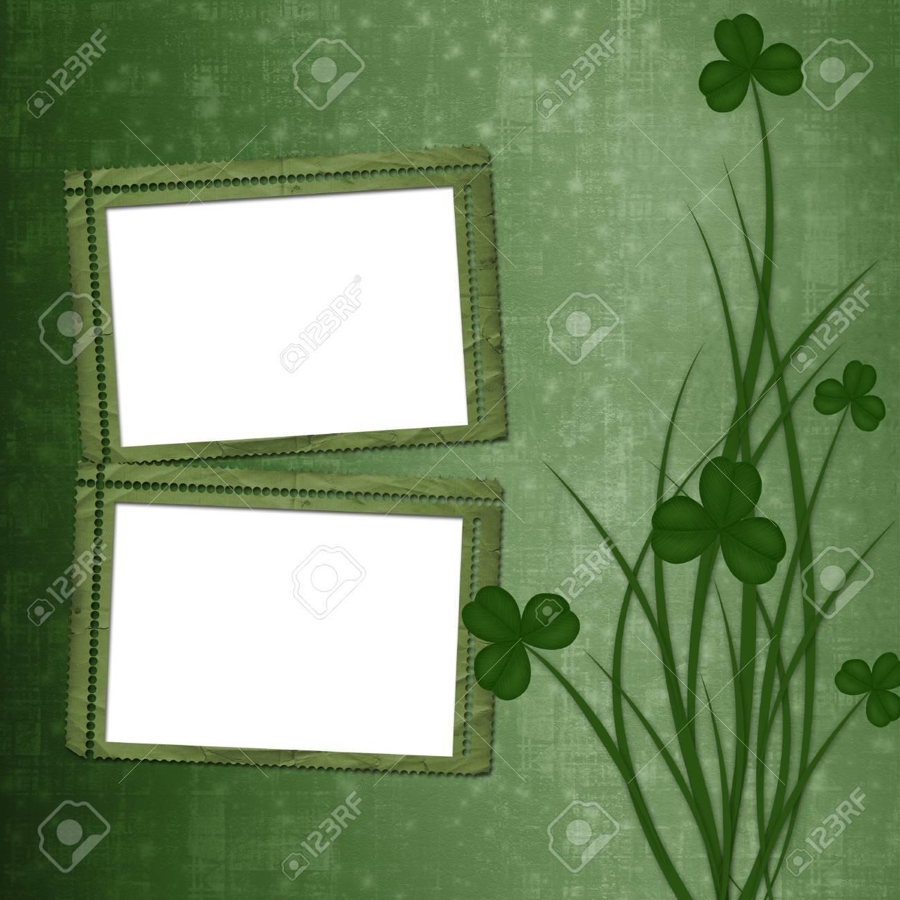 Design for St. Patrick's Day. Flower ornament. Stock Photo - 17918567
