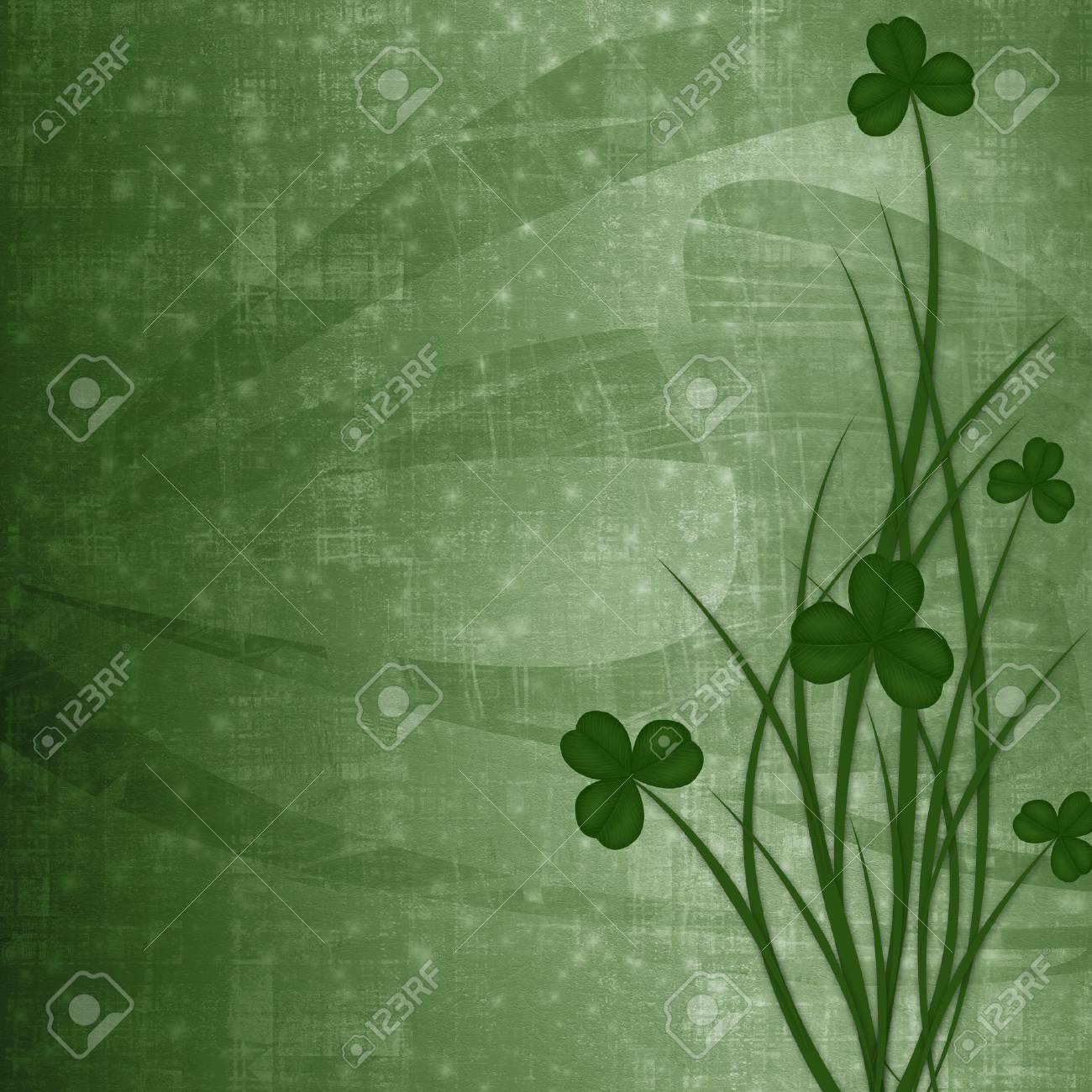 Design for St. Patrick's Day. Flower ornament. Stock Photo - 17918674