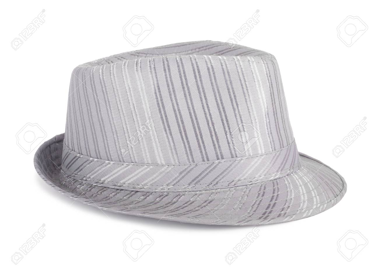 Silver silk hat for the summer on an isolated background stock photo jpg  1300x921 Silk hat 6fcfa22673f7