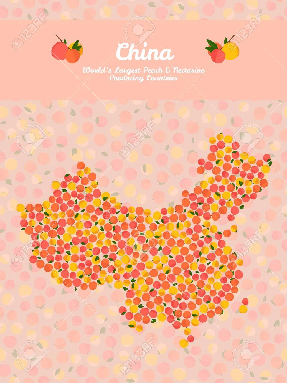 China Map Poster.China Map Poster Or Card Vegetarian Postcard Map Of China Made