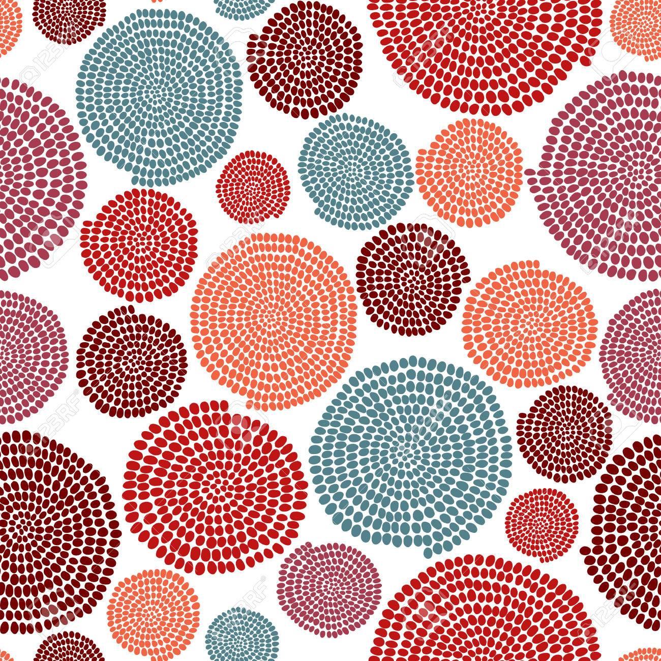 Texture Stylisé Avec Des Arcs Et Des Cercles. Seamless. Couleurs ...