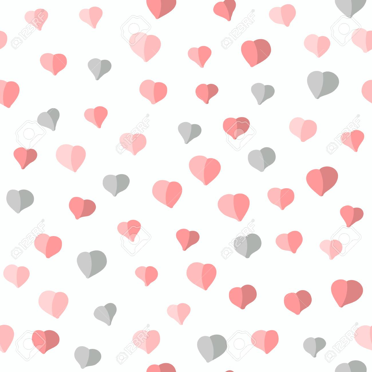 Seamless Pattern With Hearts Valentines Day Background Abstract