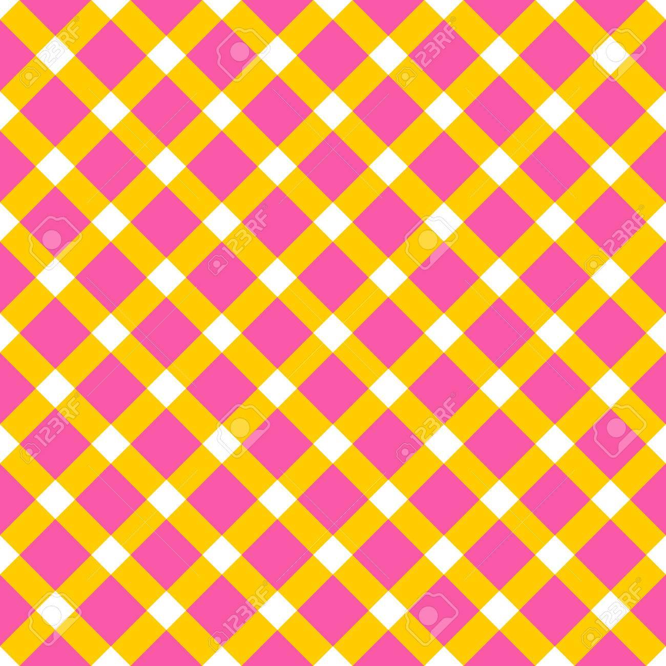 Plantilla A Cuadros Simple En Colores Amarillos Y Rosados ??y ...