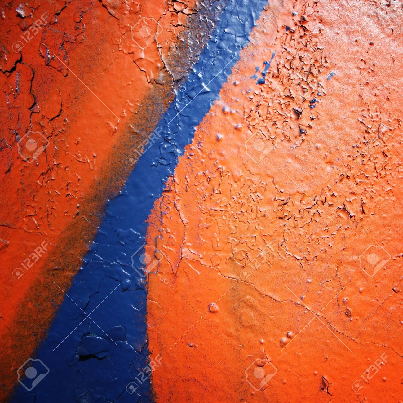 Gros Plan De Mur Urbain Peinture Brillante Sur La Surface Concreat Cadre Pour Le Texte Photo âgée Photo Rétro Effet Vintage Graffiti De Rue Se