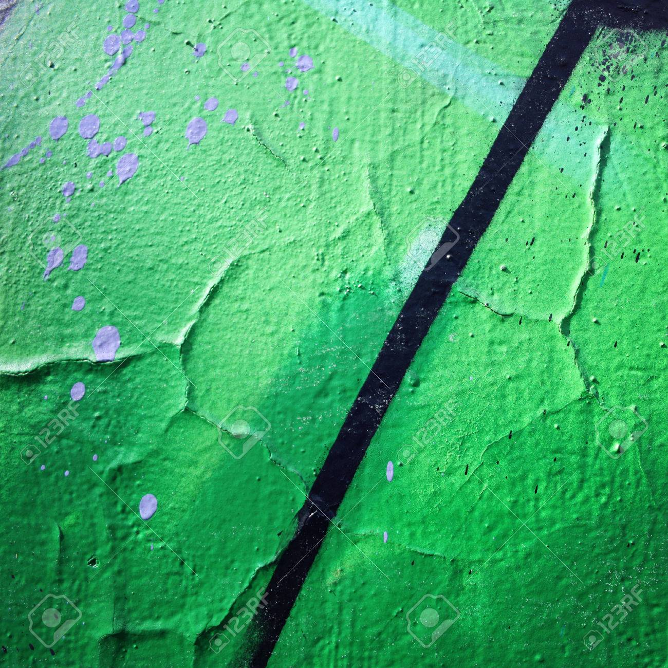 Cadre Pour Le Texte Gros Plan De Mur Urbain Peinture Brillante Sur La Surface Concreat Photo âgée Photo Rétro Effet Vintage Graffiti De Rue Se