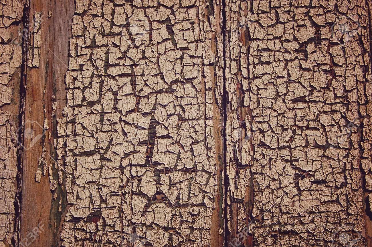 Peinture Fissuree Sur Le Mur Surface En Bois Avec Une Vieille