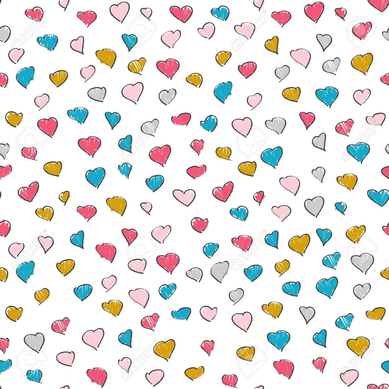 Fondo De Color Rosa Y Azul Corazón. Colores Brillantes. Patrón Sin ...