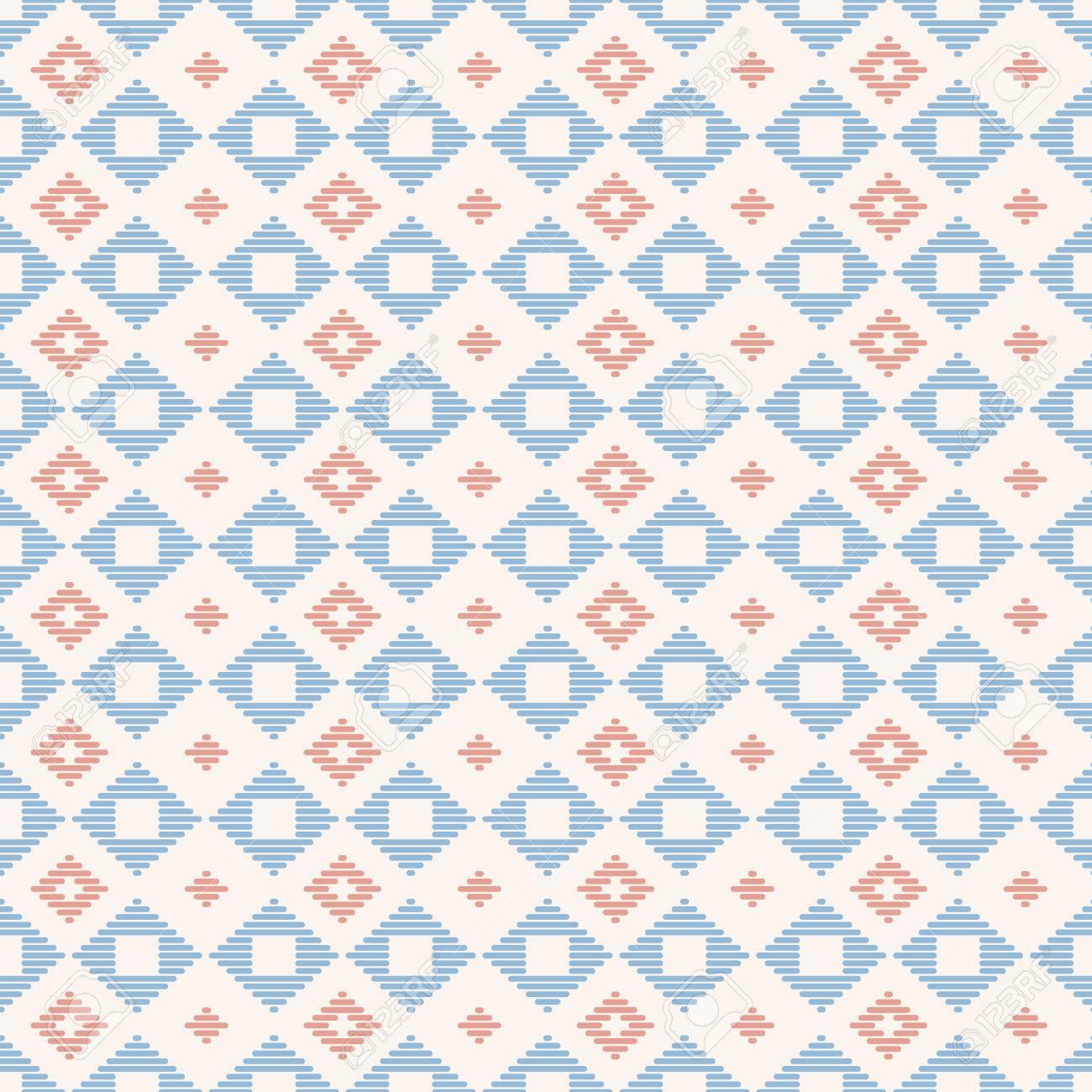 Patrón Geométrico Sin Costuras Bordado Kogin Japonés. Ornamento ...