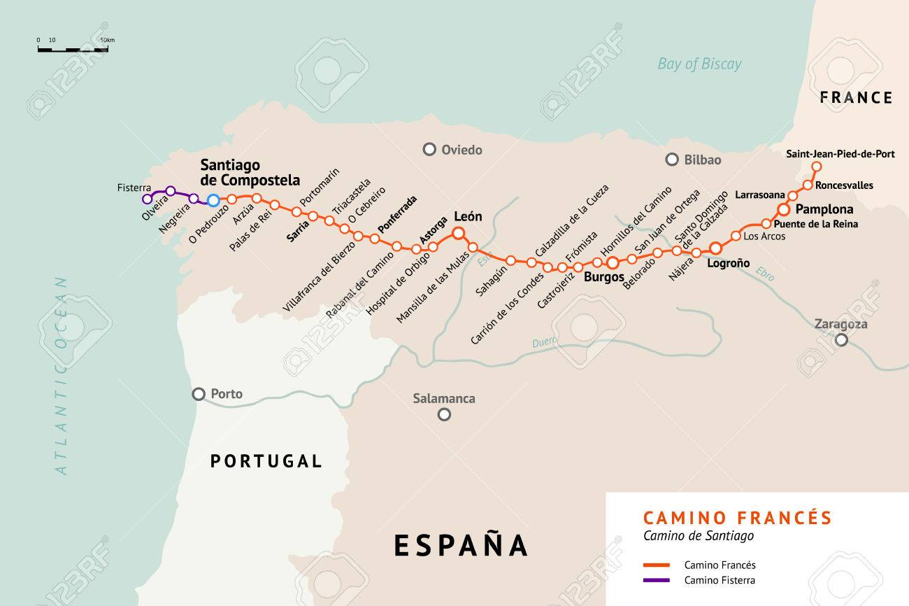 Santiago Trail Spain Map on camino santiago map, el camino map, middle ages pilgrimage map, camino trail map, camino pilgrimage map,