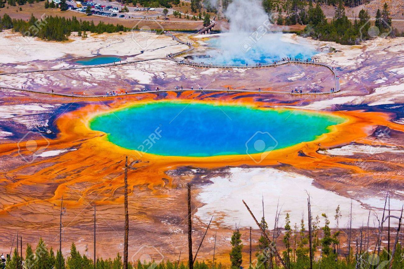 The World Famous Grand Prismatic Spring in Yellowstone National Park - 19161773