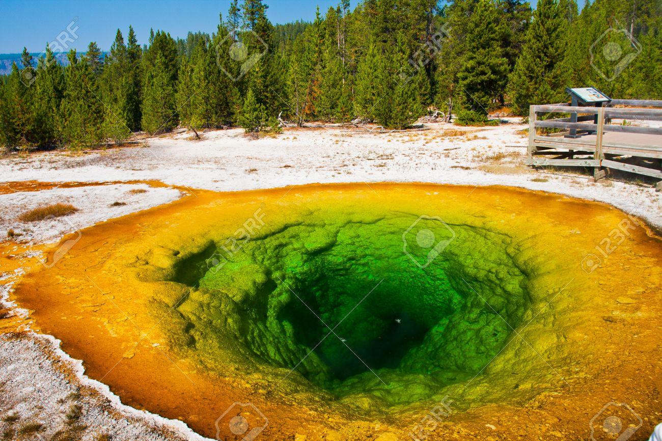 Morning Glory Pool In Yellowstone National ParkUSA Stock Photo - Us national parks yellowstone