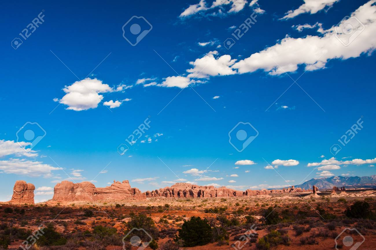 Classic Western Landscape in Arches National Park, Utah Stock Photo - 19161851