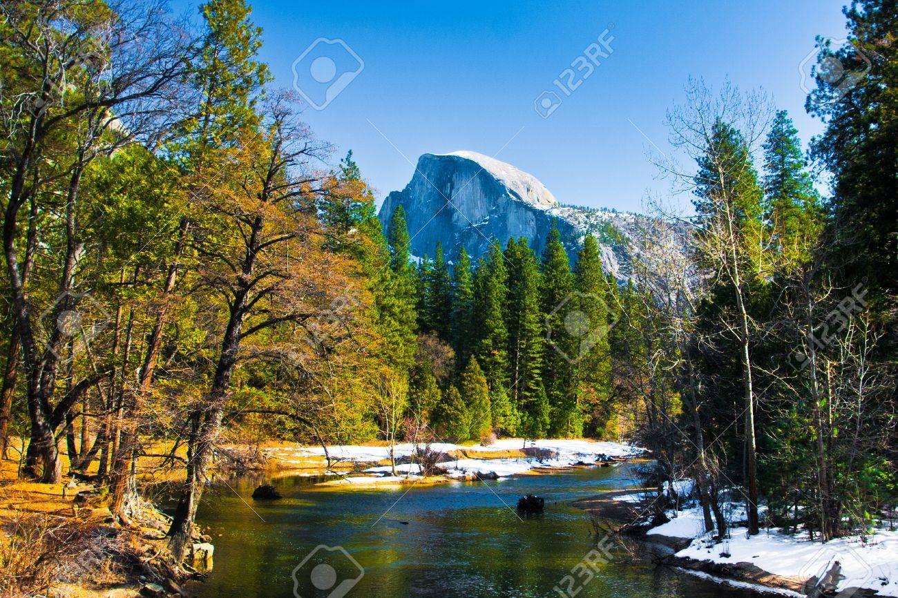 Half Dome Rock , the Landmark of Yosemite National Park,California - 19194666