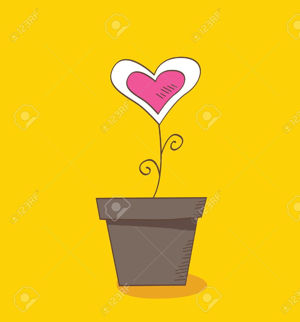 Flower of love. Beautiful love flower � romantic symbol of love. Vector Illustration. Stock Vector - 4848950