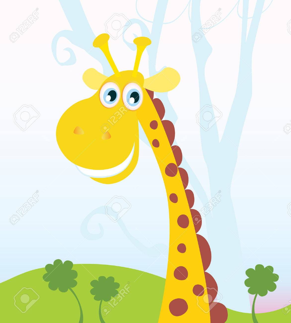 African Giraffe. Vector Illustration of funny animal. See similar pictures in my portfolio! Stock Vector - 4917953