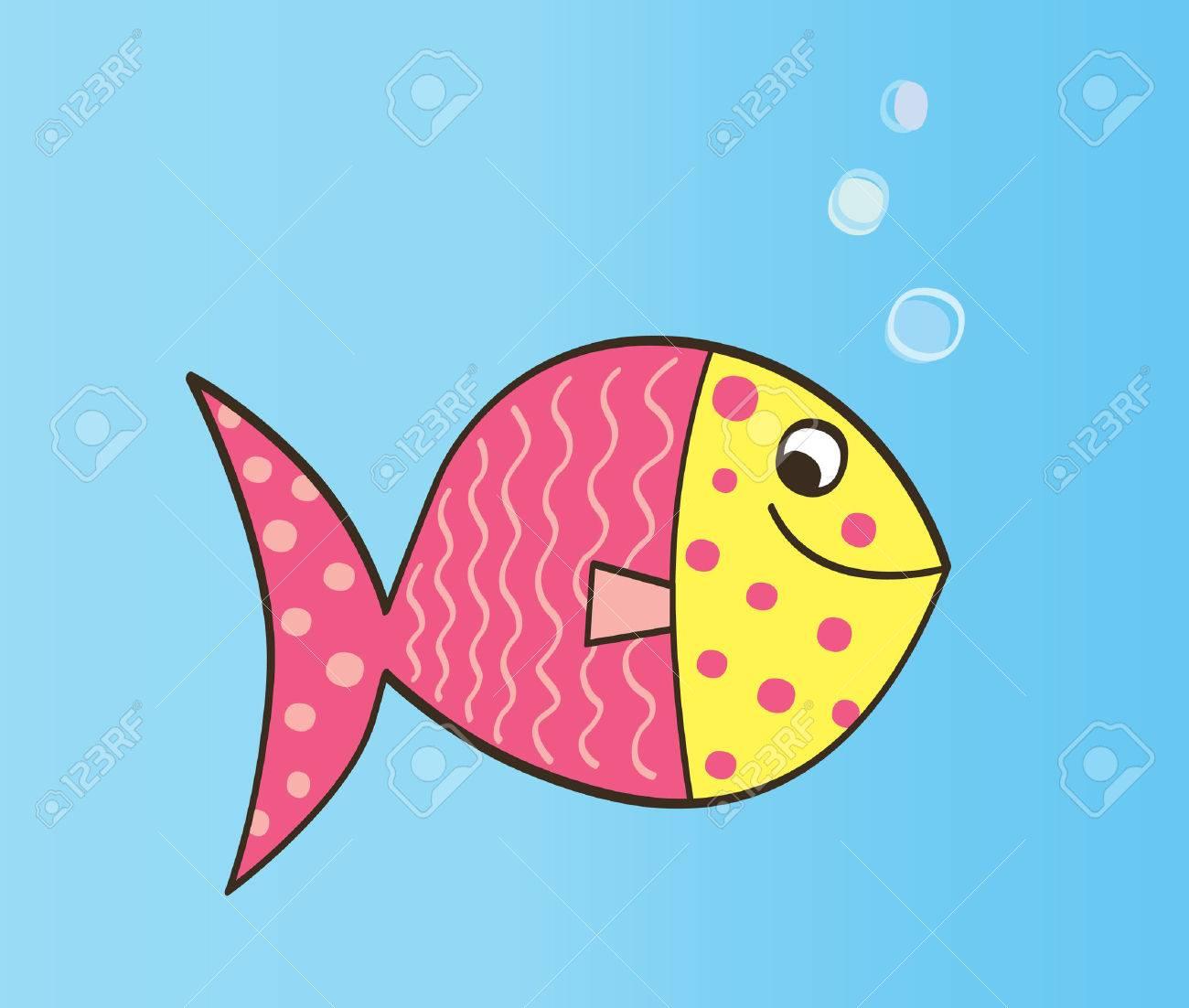 漫画の魚かわいいカラフルな魚ベクトル イラストのイラスト素材