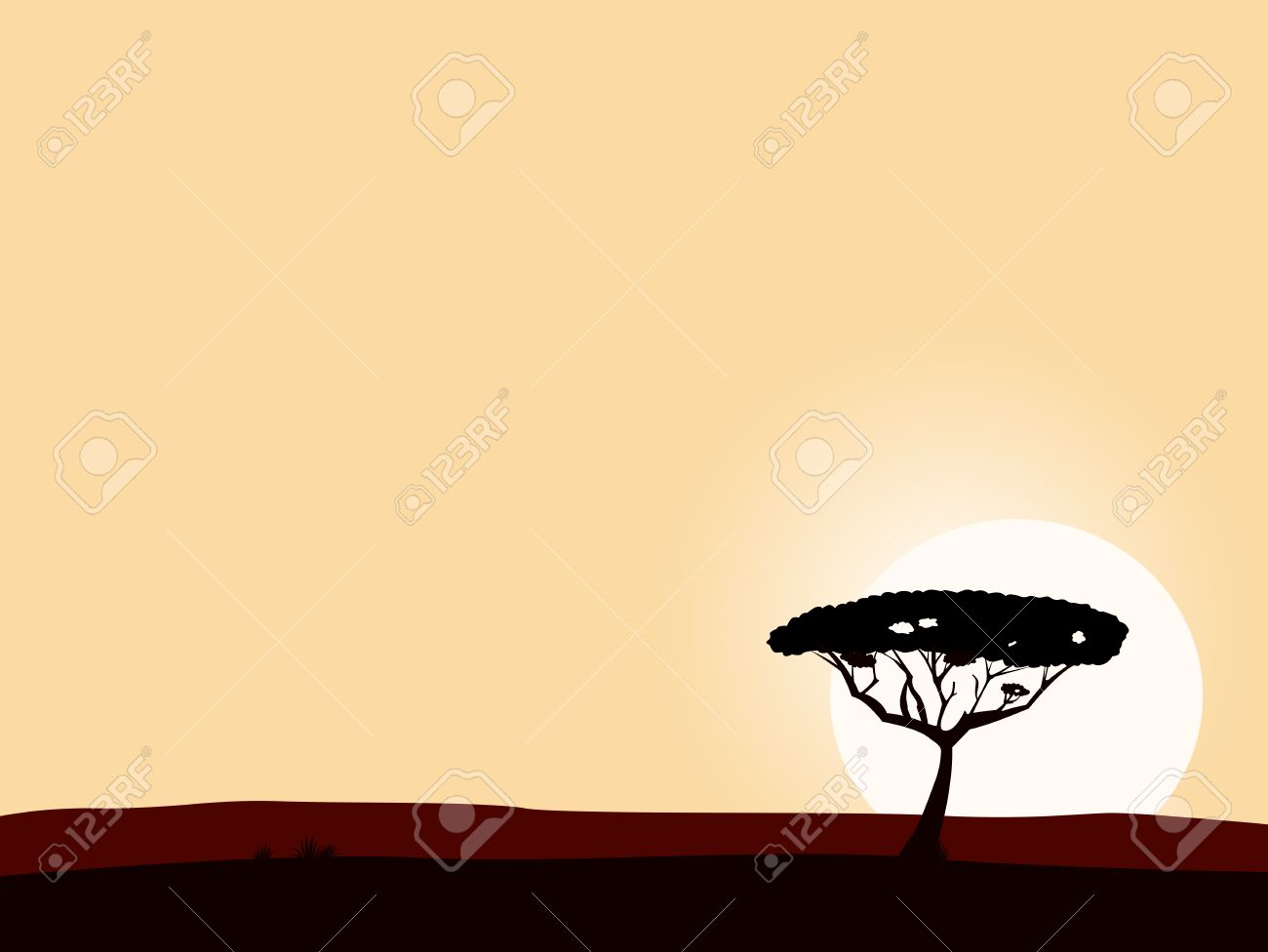 tree silhouette. Vector