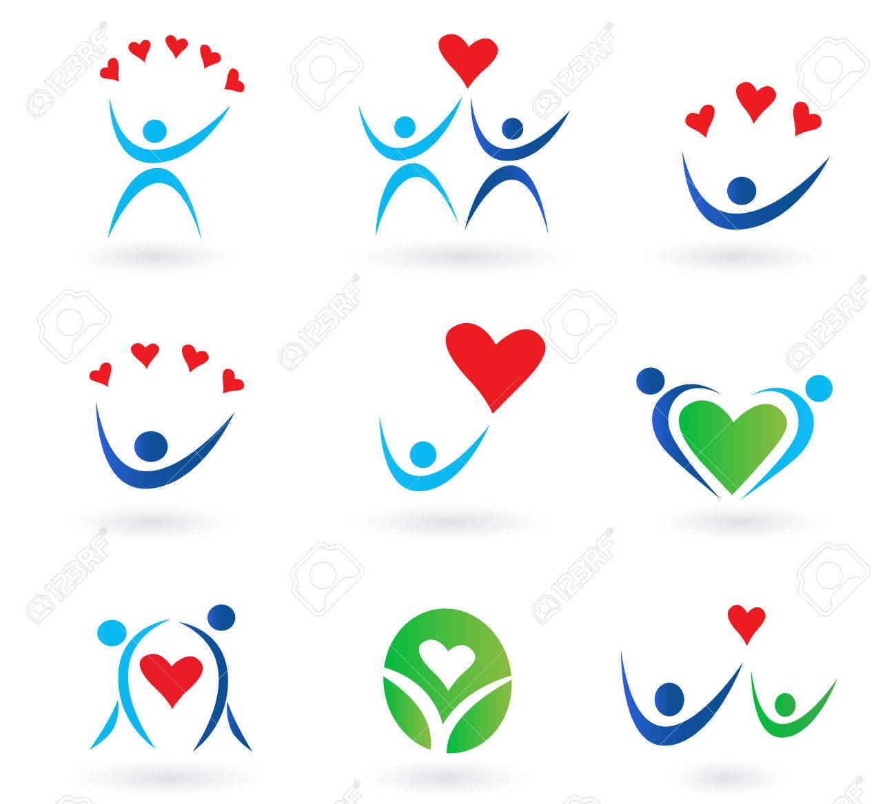 pack of love, relationship, community and family icons for websites and magazines. Stock Vector - 7317847