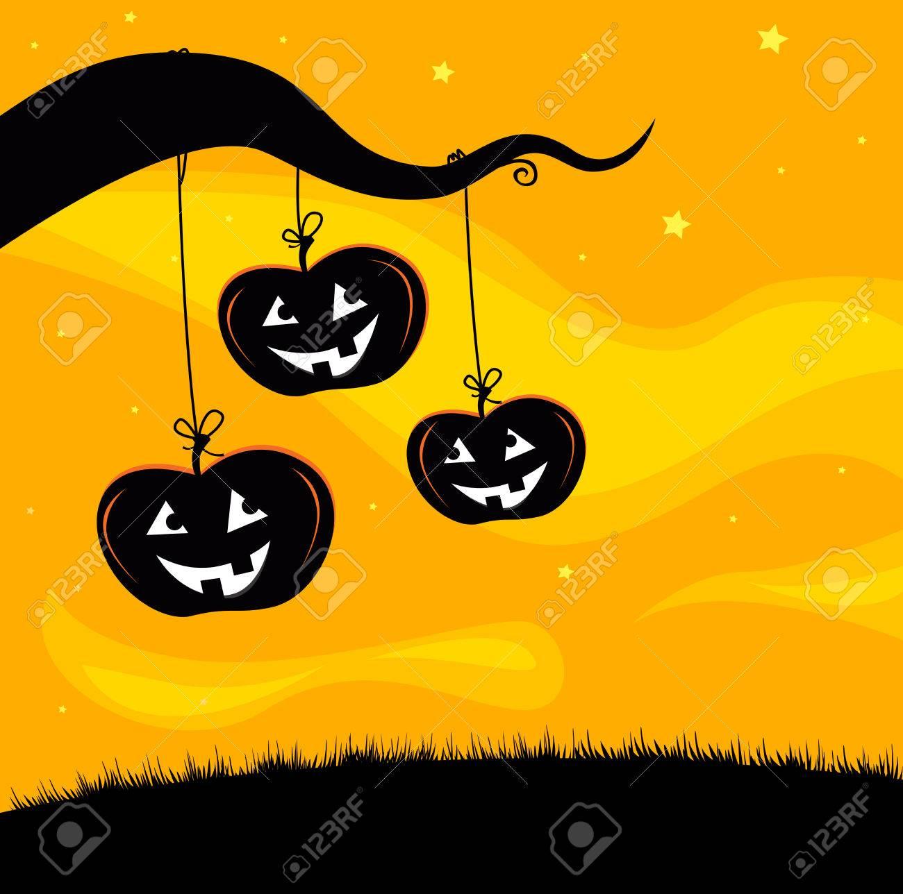 Halloween Jack O'Lantern Tree Stock Vector - 7852478