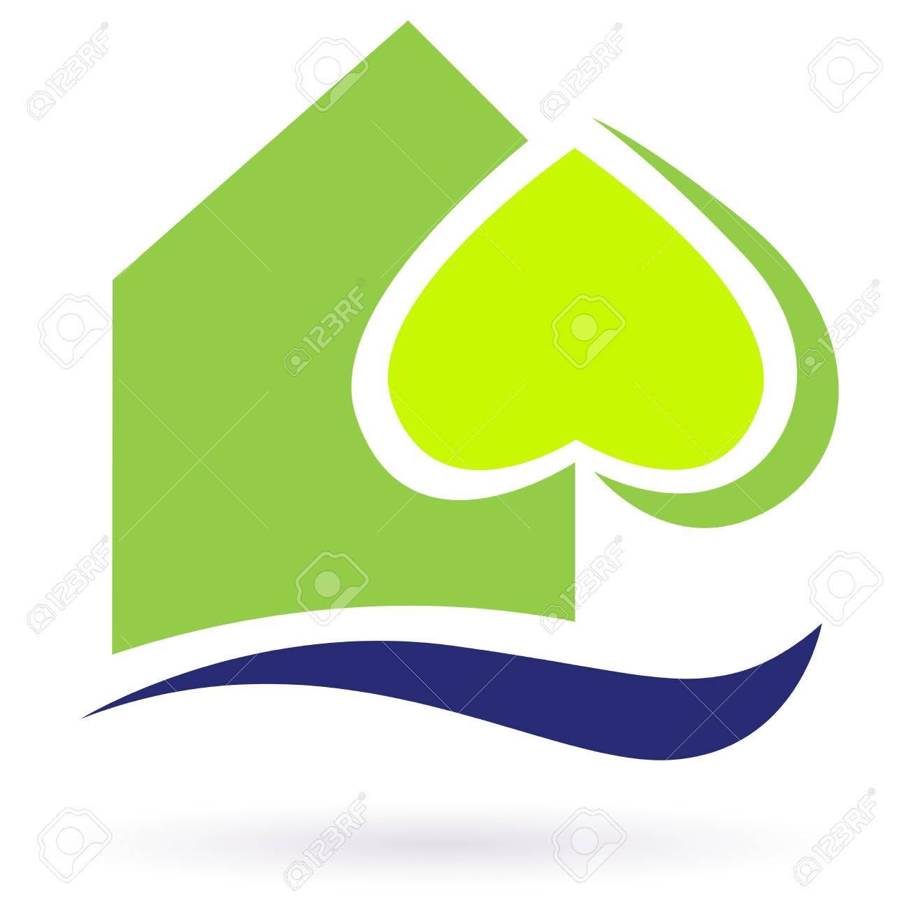 Green nature eco house icon. Green eco house icon. illustration. - 8098071