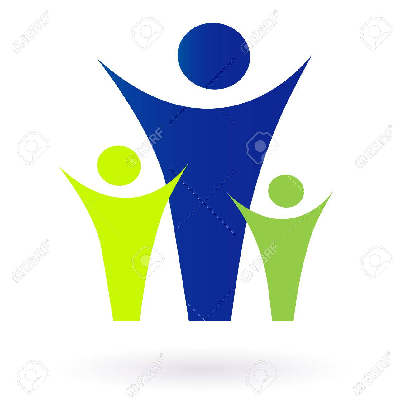 Family and community pictogram - adult and kids. Vector Illustration. Stock Vector - 8168982