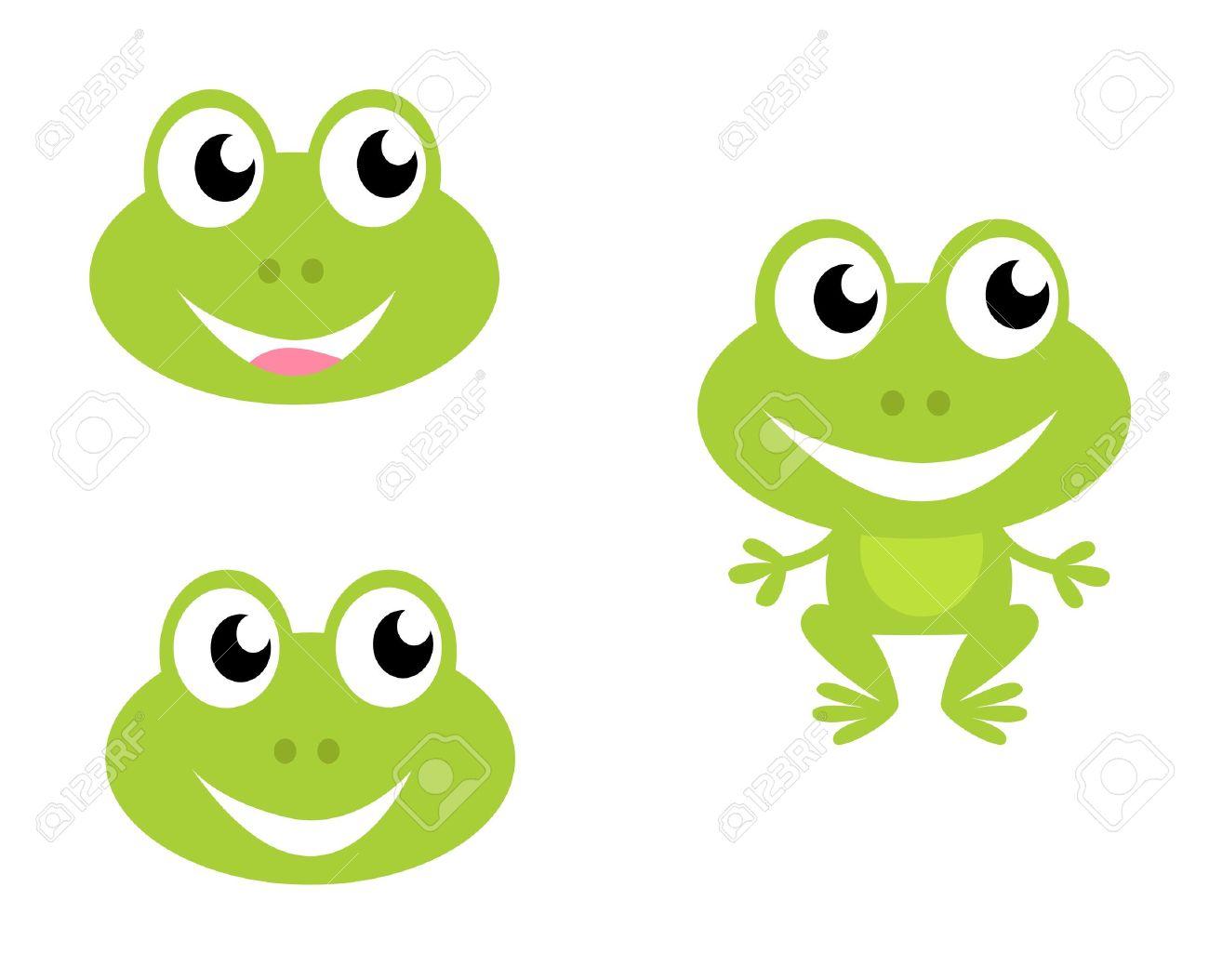 green frog icon collection vector cartoon illustration royalty rh 123rf com Vector The Crocodile sweet frog vector logo