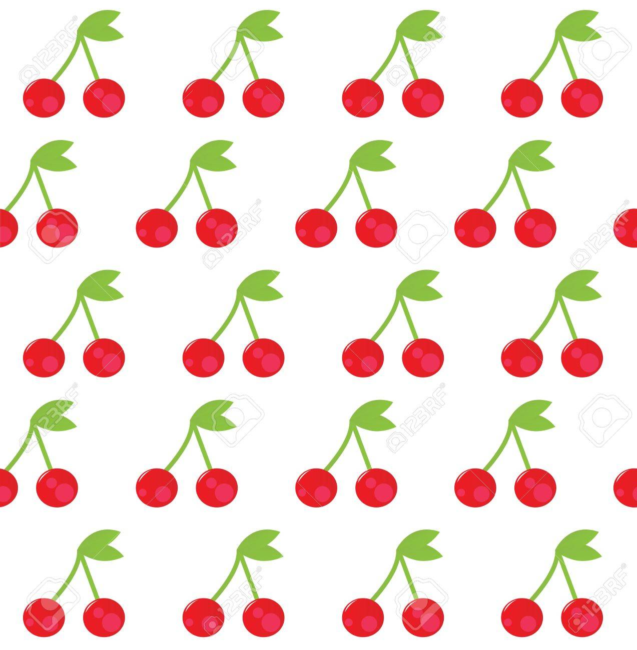 Cute Cherries Background Cherry Seamless Background or