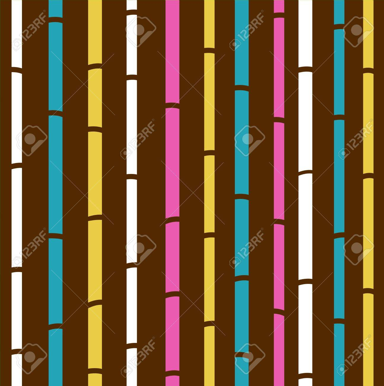 Fresh colorful bamboo pattern stripes Stock Vector - 10318764