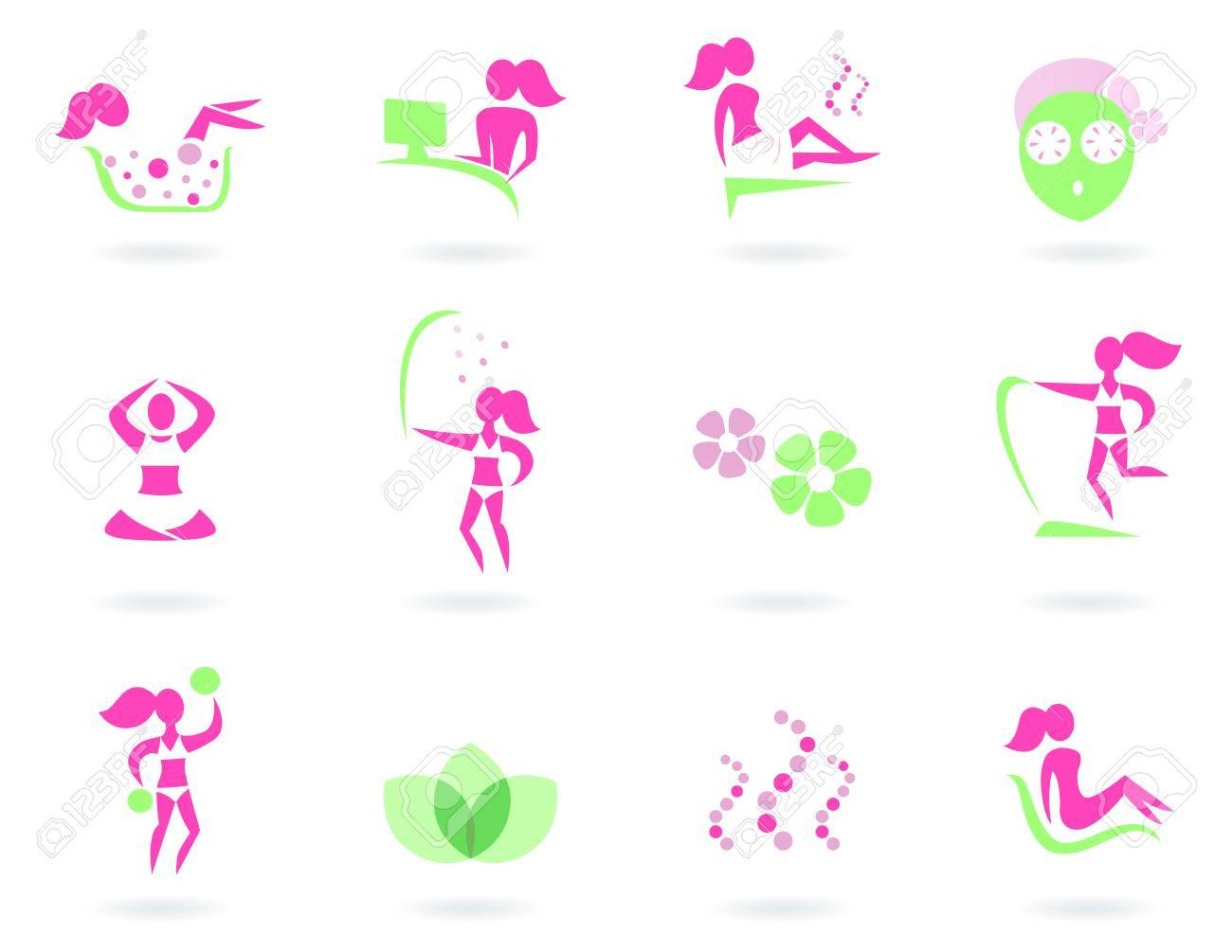 Vector collection of spa and wellness icons - isolated on white background. Stock Vector - 10704704