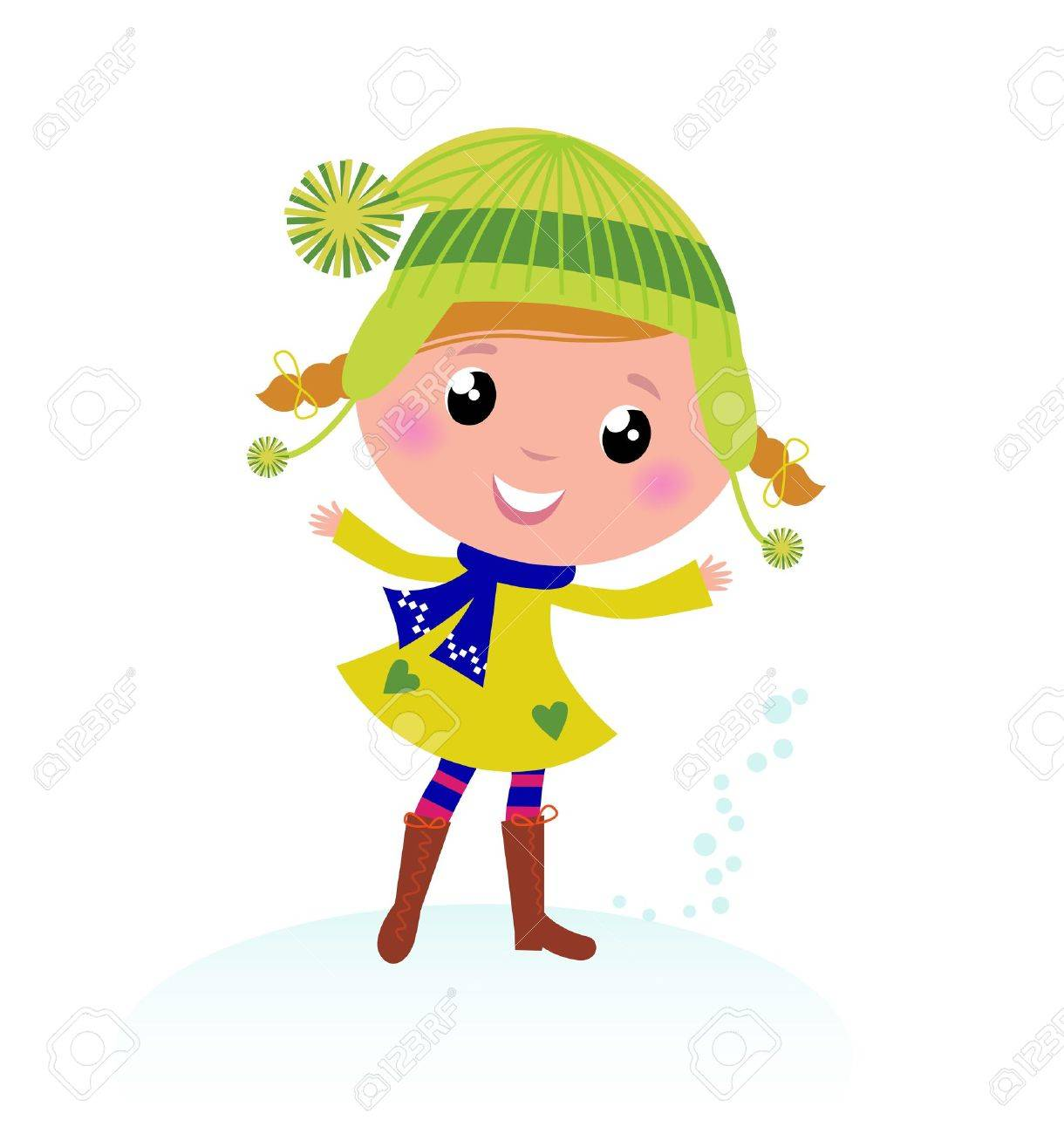 little winter kid isolated on white vector cartoon stock vector 10762956 - Cartoon Kid Images