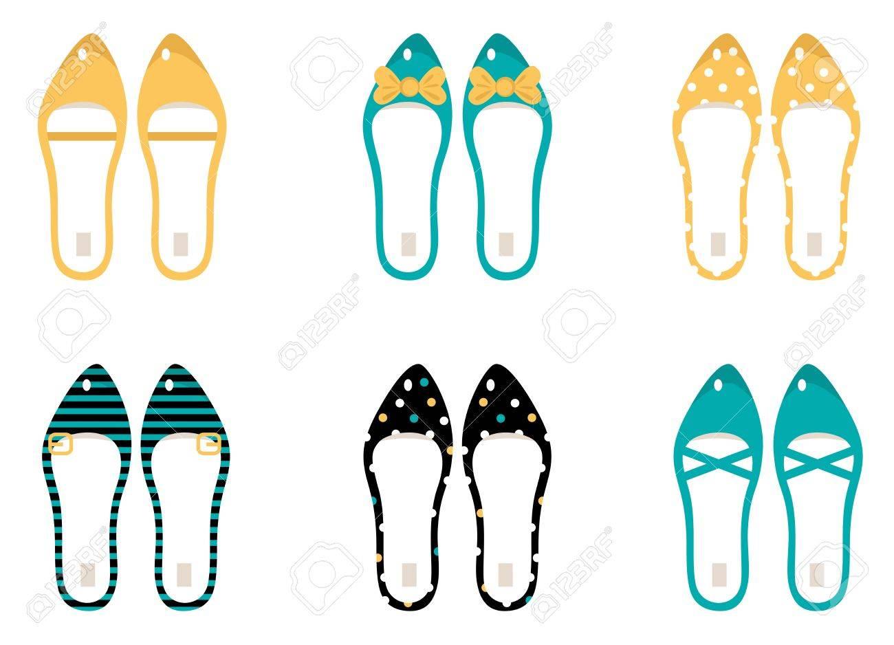 かわいい靴のコレクションです。ベクトル イラスト。