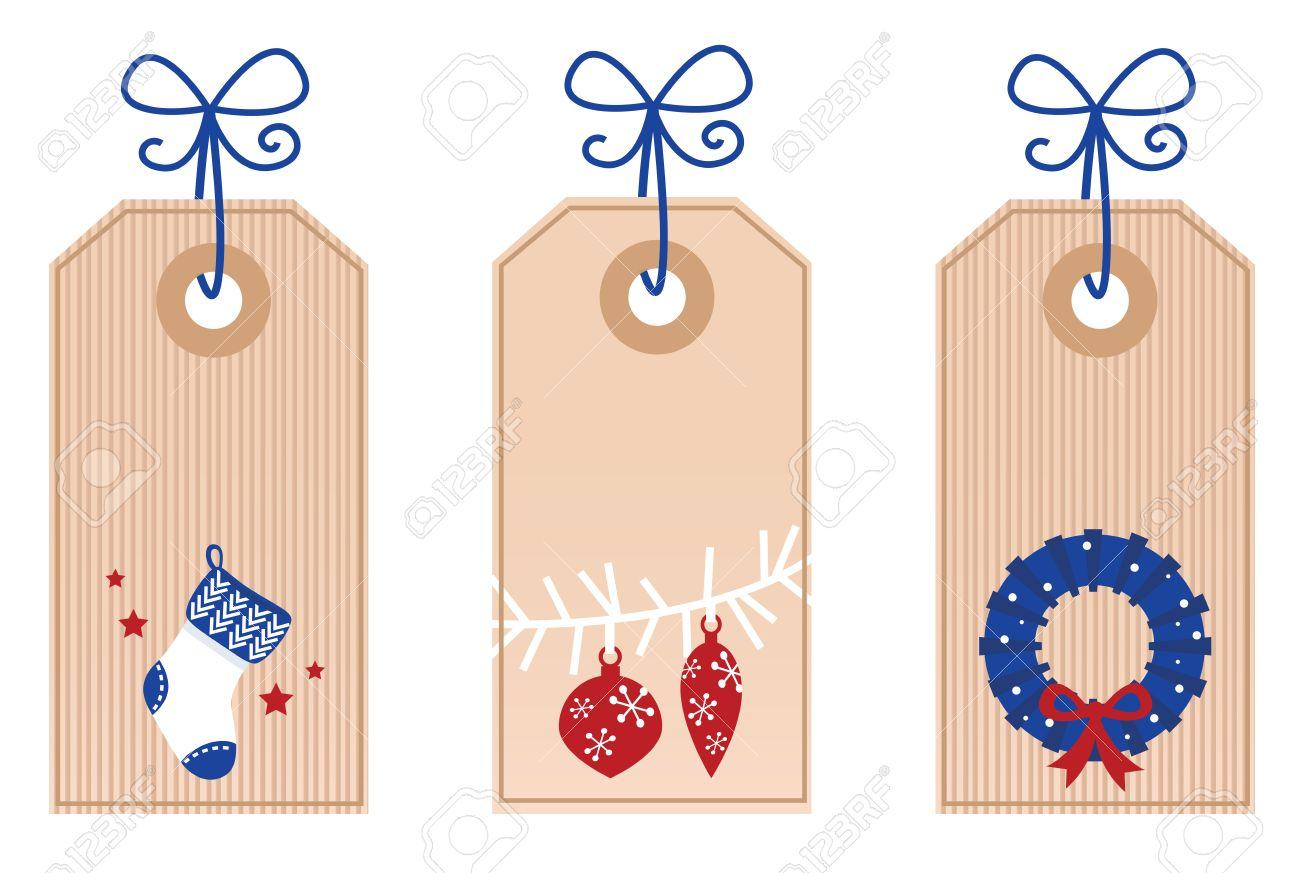 Stylized Christmas Tags. Vector retro Illustration. Stock Vector - 11064267