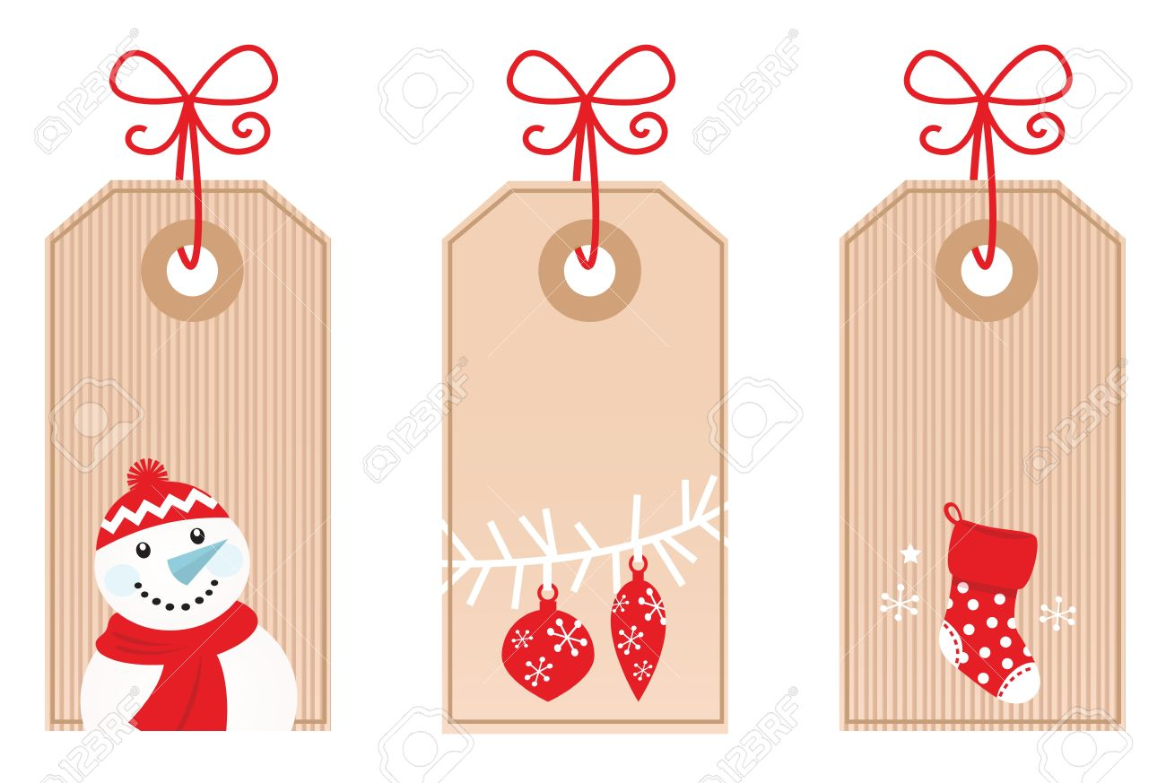 cute retro christmas blank labels vector illustration royalty cute retro christmas blank labels vector illustration stock vector 11064276