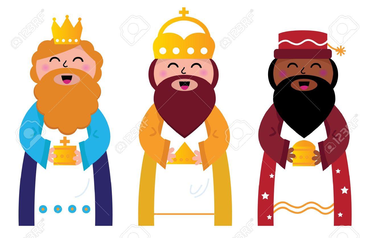 Resultat d'imatges de los tres reyes magos dibujo