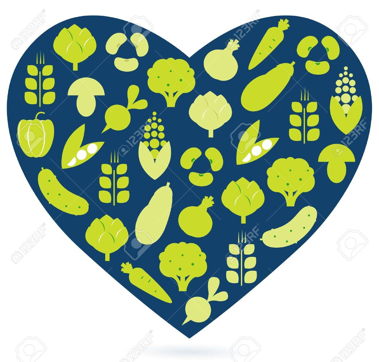 Vegetable heart isolated on white. Vector Stock Vector - 11969407