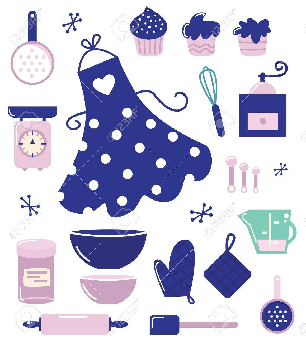 Retro set for baking or cooking. Vector Illustration Stock Vector - 12162841
