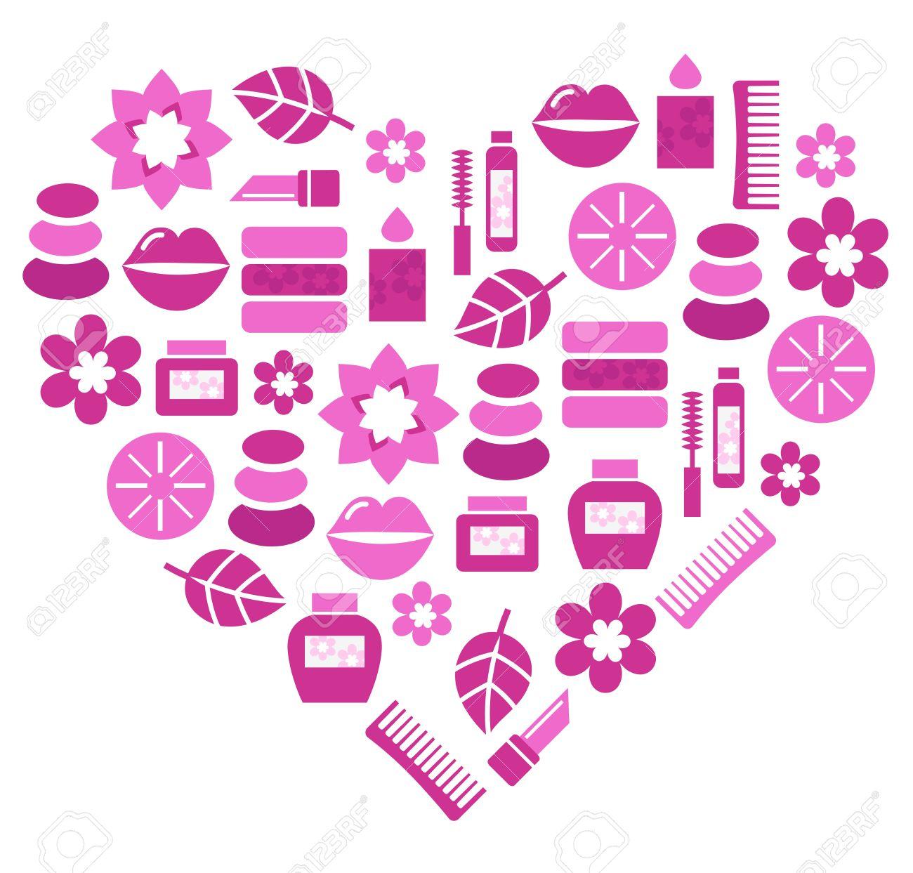 Stylized pink heart. Vector illustration. Stock Vector - 12162858