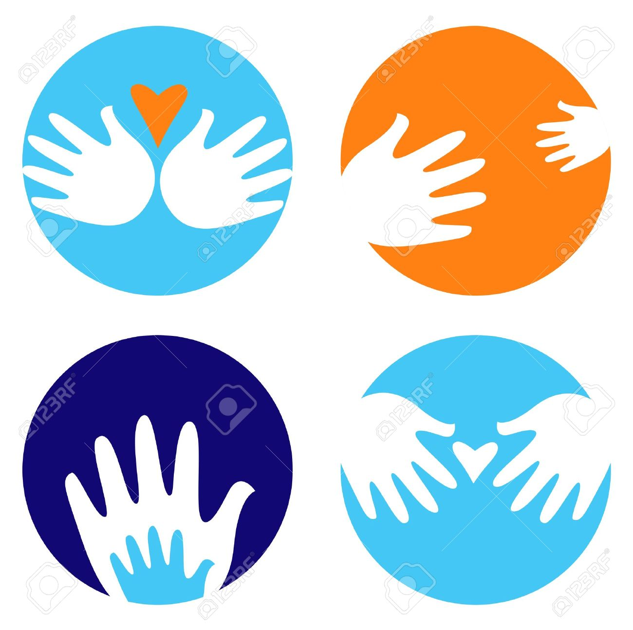 Hand icons and symbols in Helping Hand Icon