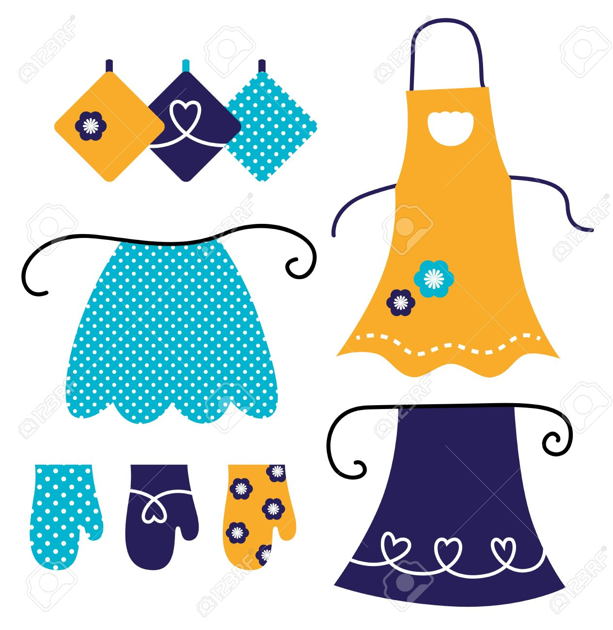 Apron and kitchen accessories Stock Vector - 13794239