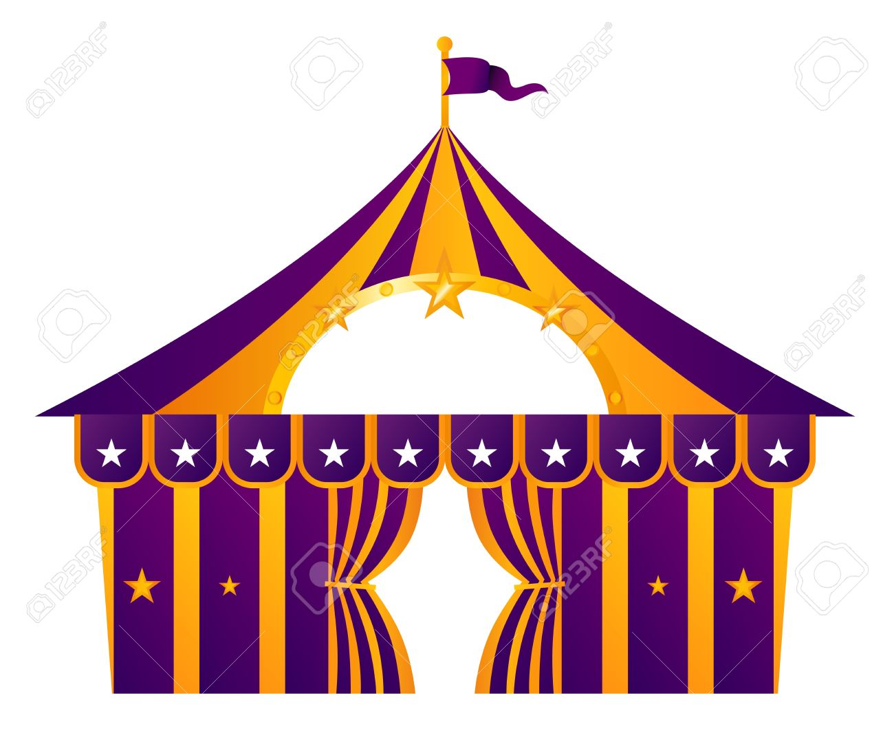 Circus tent illustration isolated on white. Vector Stock Vector - 14583404