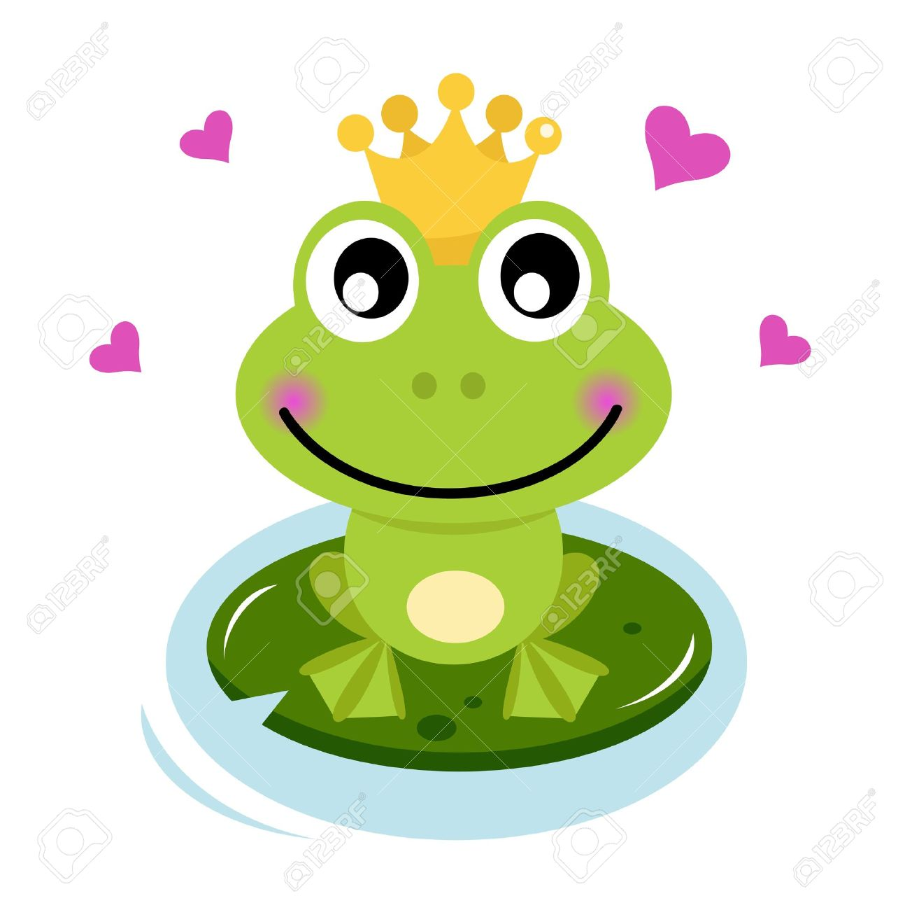 Frog prince isolated on white. Cartoon vector illustration Stock Vector - 14583406