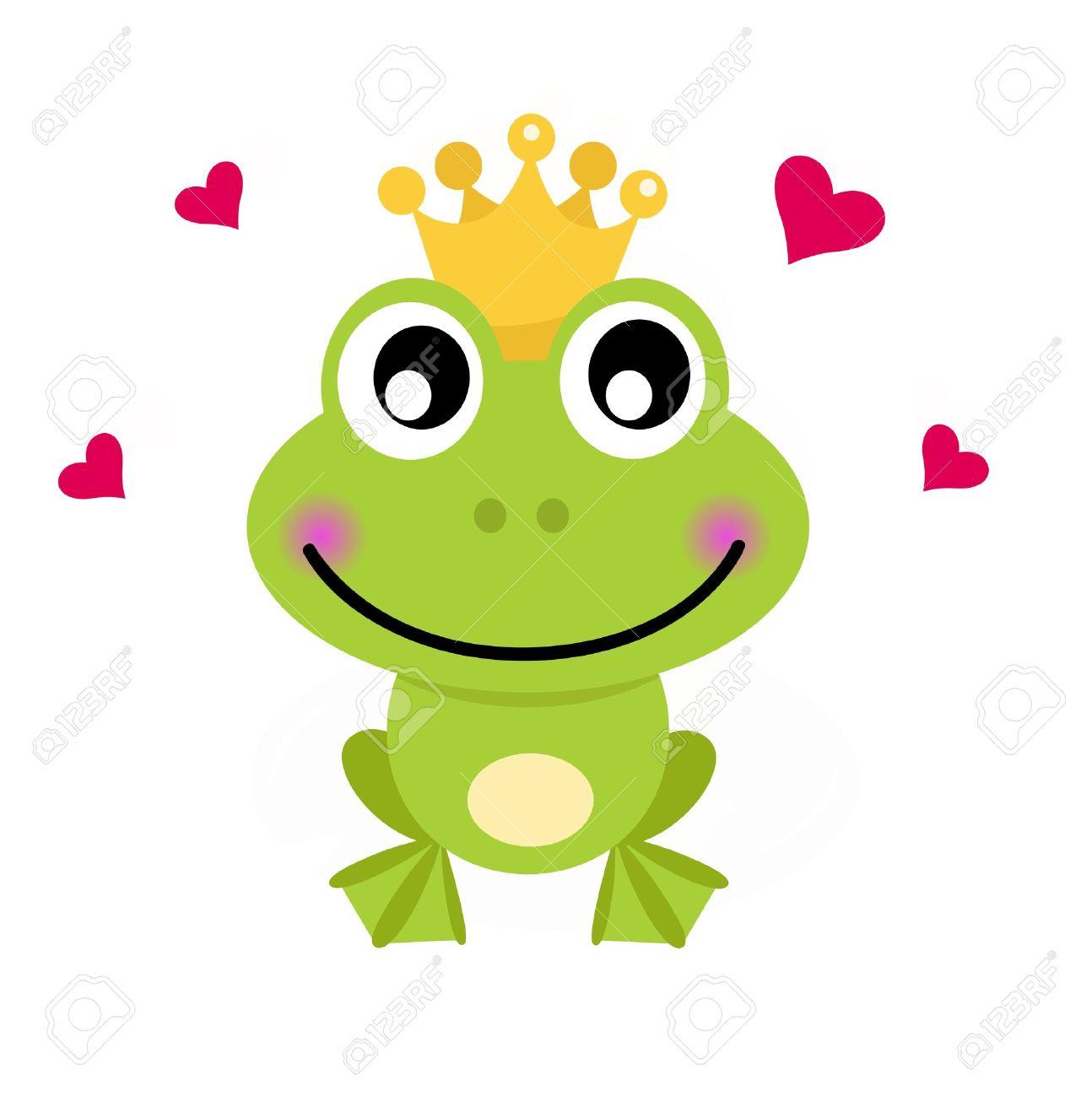 Frog prince. Vector cartoon illustration - 14583410