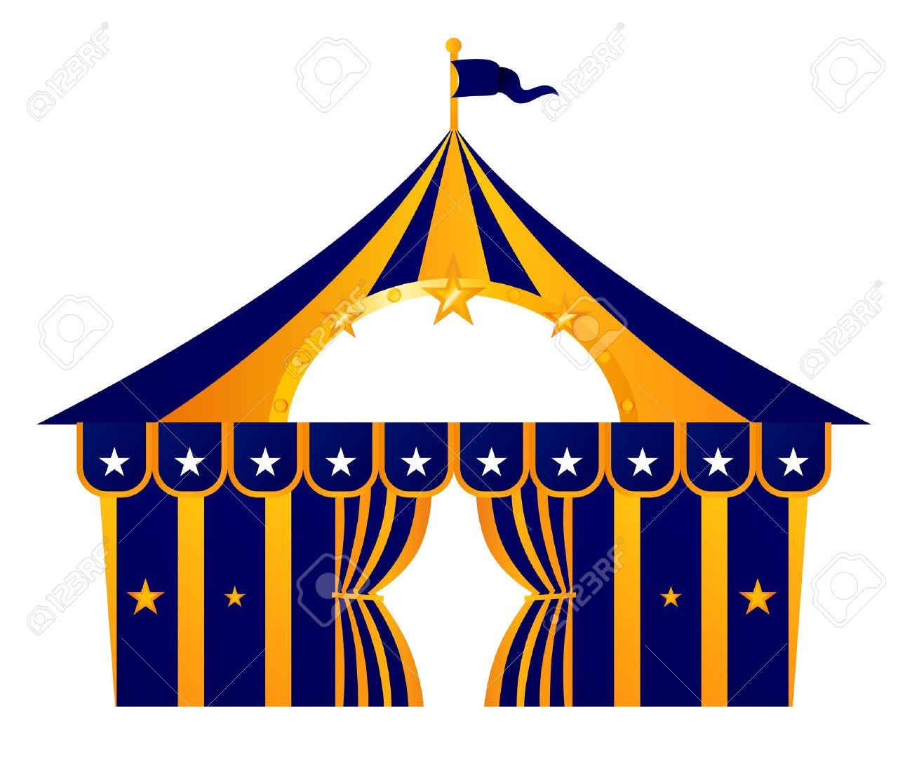 Stylized Circus Tent. Vector Illustration Stock Vector - 15211476