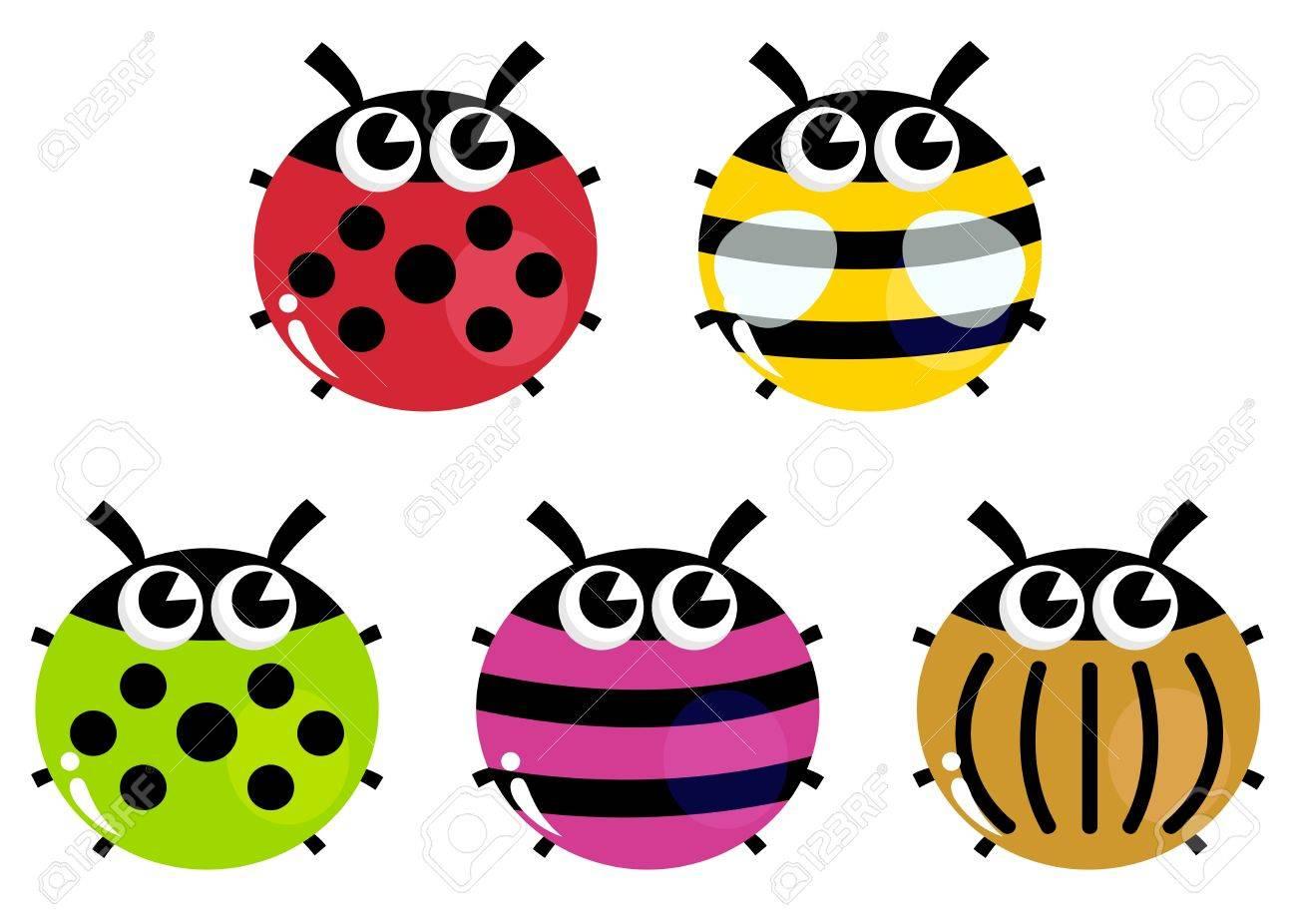 Various bugs collection. Vector cartoon Illustration Stock Vector - 17349928