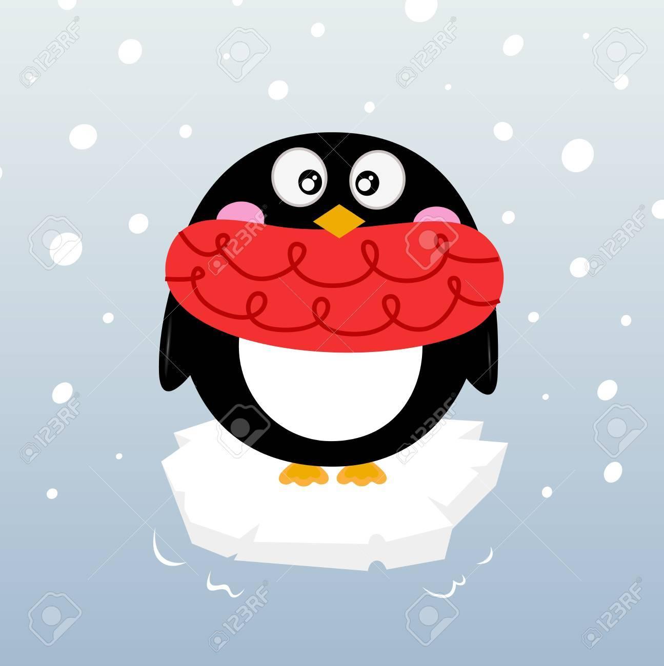 Cartoon winter penguin. Stock Vector - 17560061