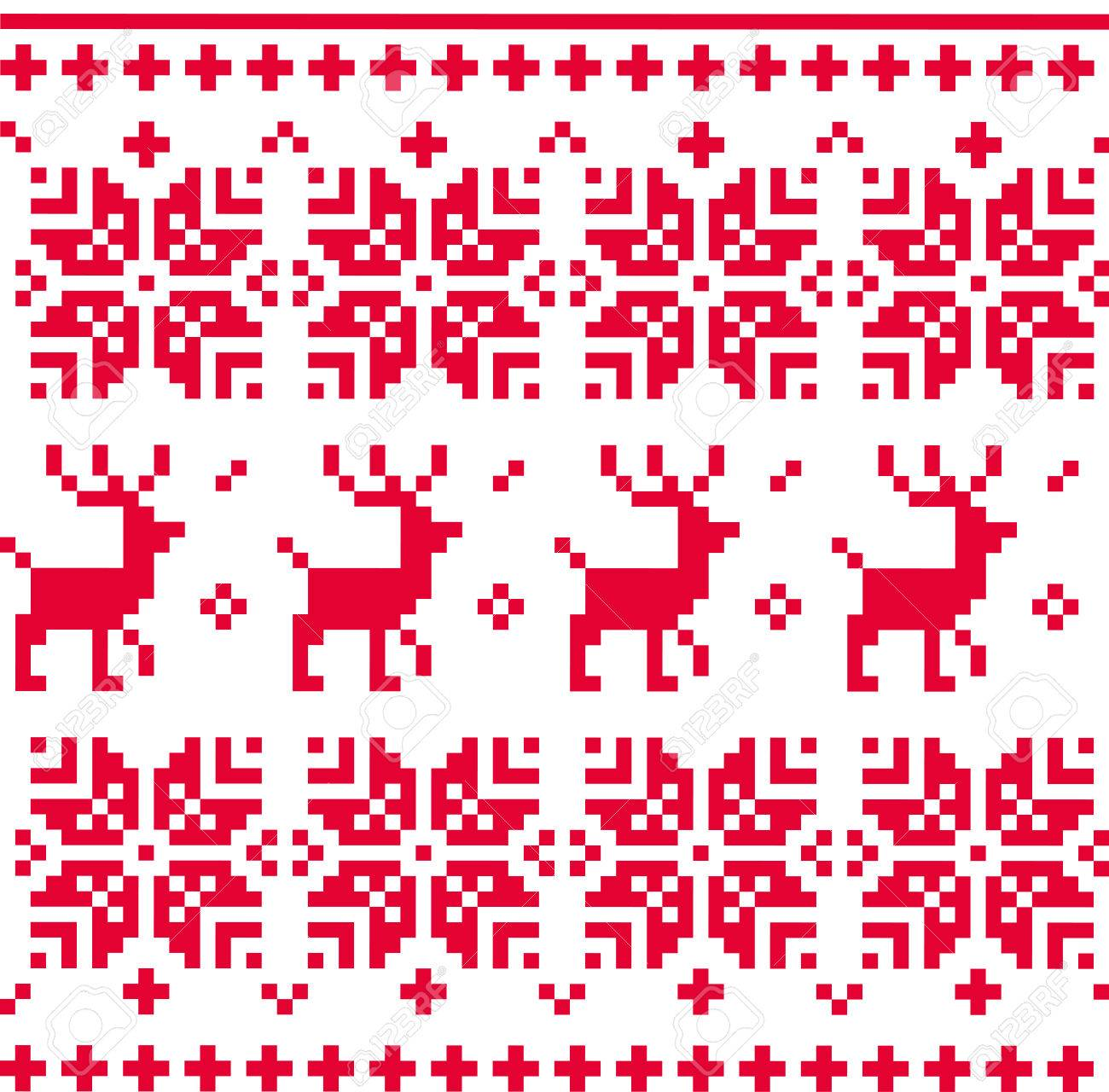 Awesome Reindeer Knitting Patterns Adornment - Easy Scarf Knitting ...