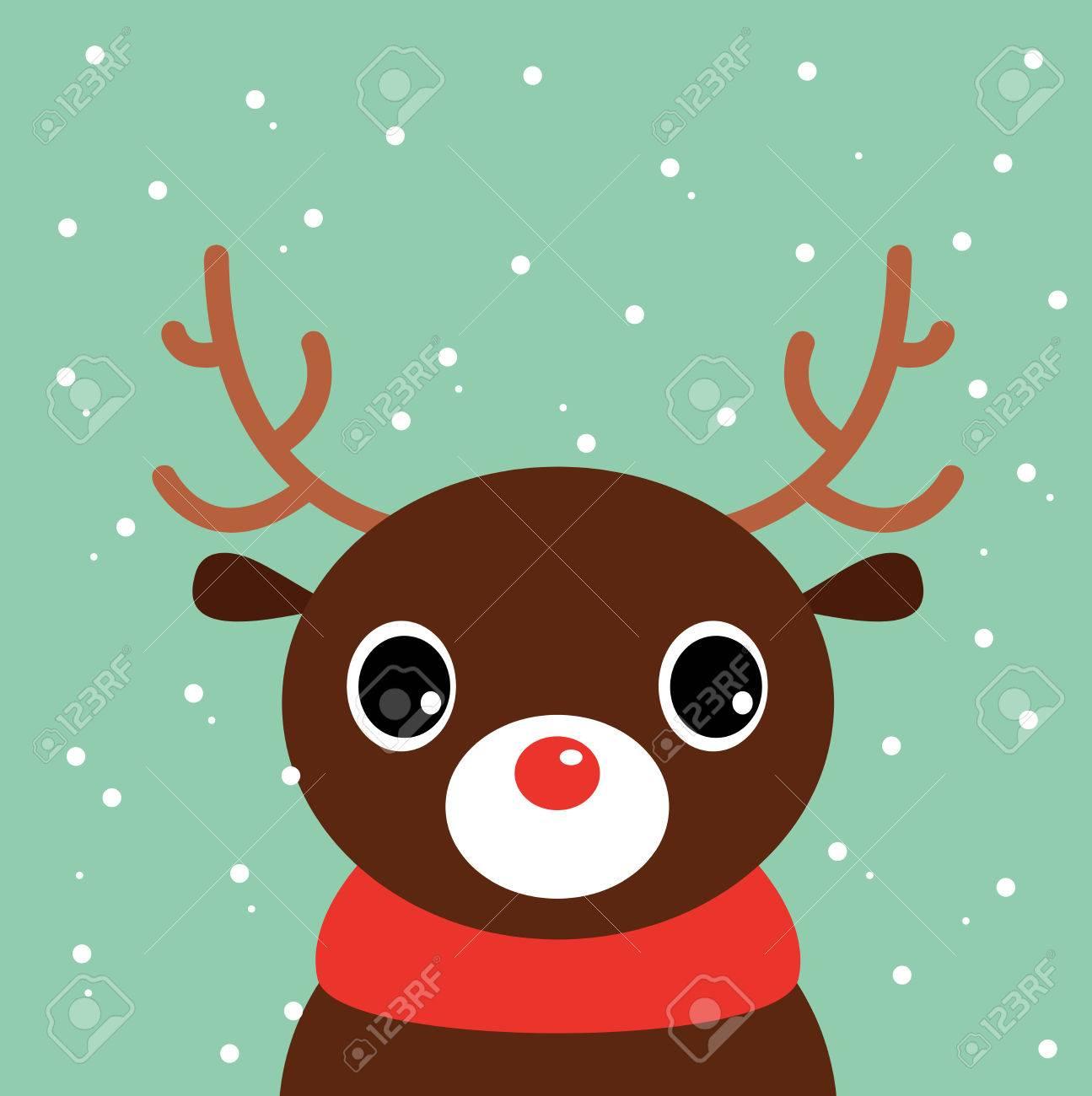 Beautiful Cute Xmas Deer Illustration Royalty Free Cliparts, Vectors ...